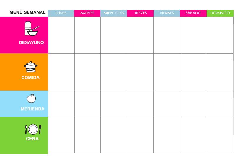 Taller: cómo planificar tu menú semanal
