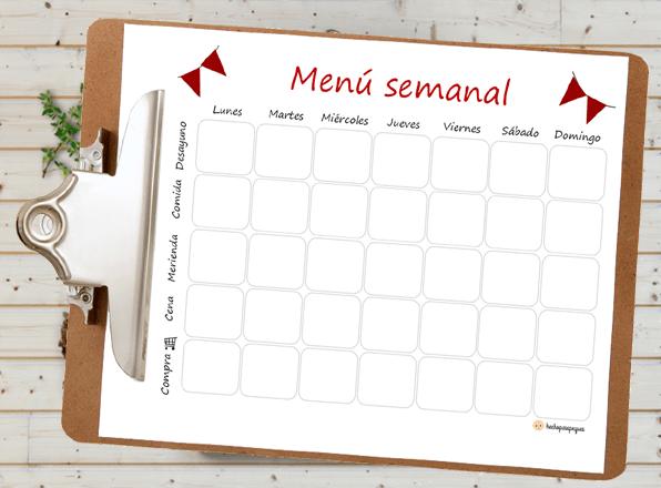 Menú semanal: ventajas y cómo planificarlo