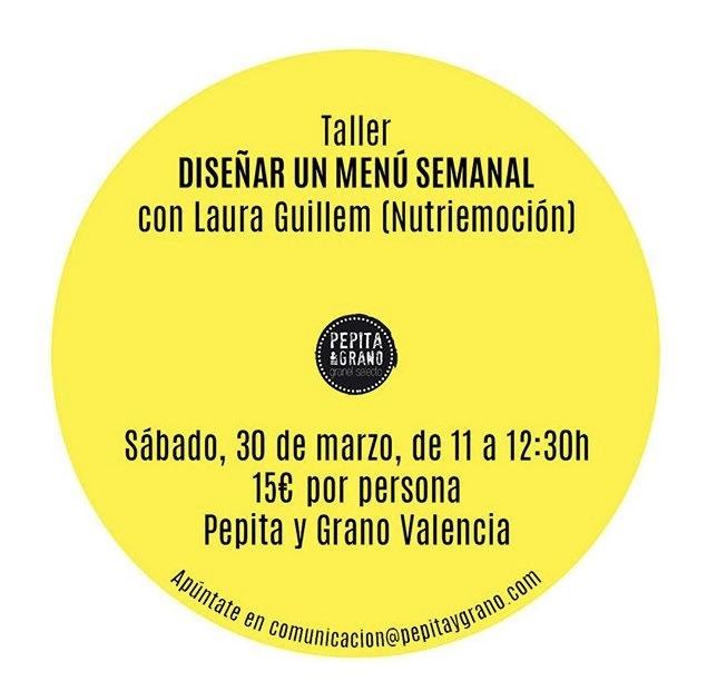 TALLER: DISEÑA TU MENÚ SEMANAL-BATCH COOKING