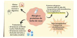 Esquema Alergia a la proteína de la leche de vaca